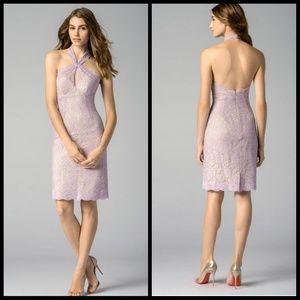 Watters light purple lace dress, style# 7256